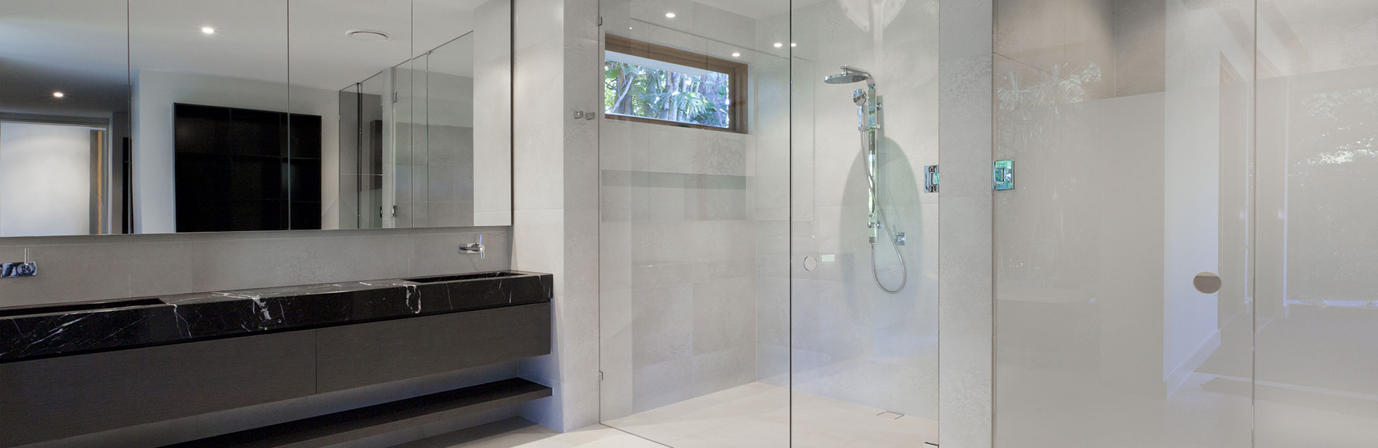 Dual Glass Door Showers