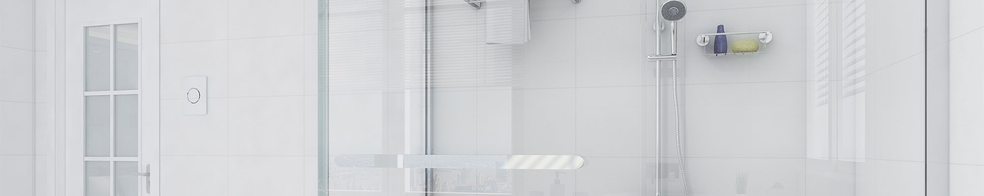 White Bathroom with Walk-in Shower
