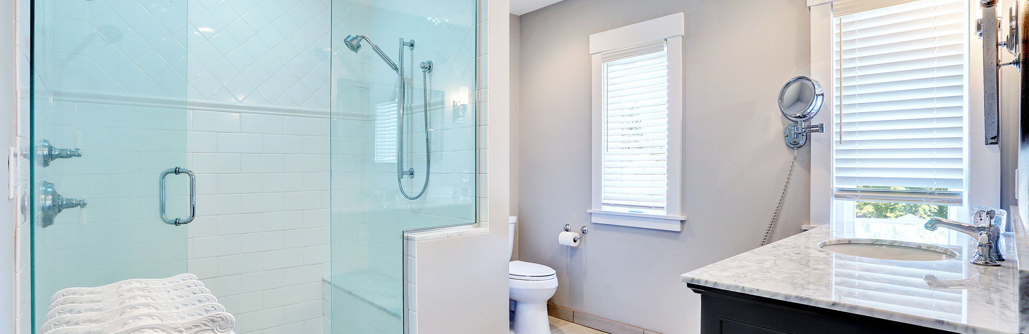 Large Washroom - Walk-in Shower